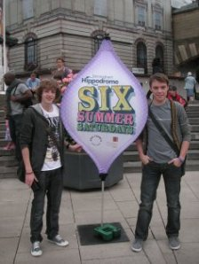 Alex and Marcus at 'Six Summer Saturdays'