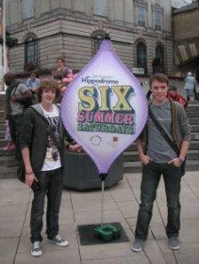 Alex and Marcus at 'Six Summer Saturdays'
