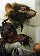 One of the stunning rat costumes used in the show...