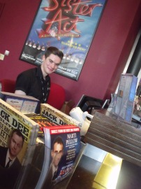 Paul on the Box Office front counter.