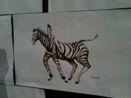 One of the costume sketches at The Lion King exhibition...
