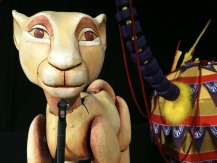One of the fantastic puppets backstage...