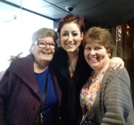 Patricia and Christine with Connie Fisher