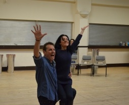 Brian & Kathryn rehearse their number