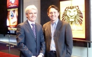 Peter McHugh pictured with Rob Macpherson from Birmingham Hippodrome