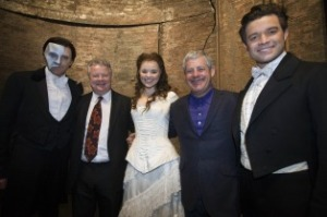 Sir Cameron Mackintosh with cast