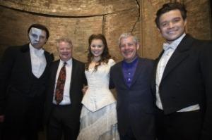 Sir Cameron Mackintosh with cast