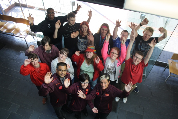Sainsbury's staff with access workshop participants.