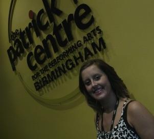 Rachel Sharpe outside The Patrick Centre at Birmingham Hippodrome