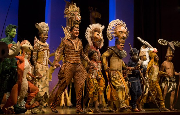 The Cast take their curtain call at Press Night at Birmingham Hippodrome