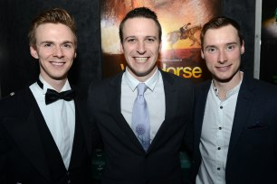 Andrew Keay (Joey hind), Michael Humphreys (Joey heart) and Thomas Gilbey (Joey head)