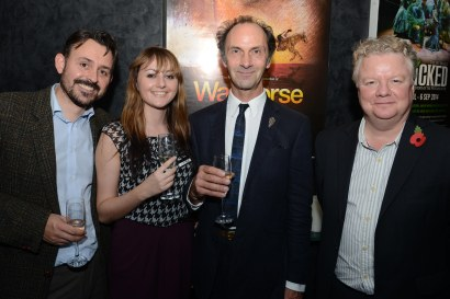 Rob Macpherson, Caroline Davis, Toby Sedgewick (Puppetry director) and Stuart Griffiths