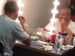 Gary Wilmot transforms into the Dame