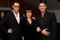 L-R: Gok Wan, Stephanie Beacham, John Partridge