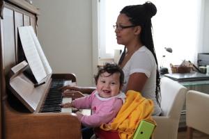 Angela Kerrison and Baby Nia