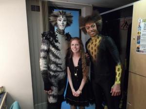 Heather and the cast of CATS