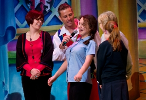 Paul Zerdin and guests on stage - Snow White and the Seven Dwarfs!