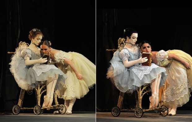 Elisha Willis and Maureya Lebowitz in the role of Swanilda; photo: Roy Smiljanic