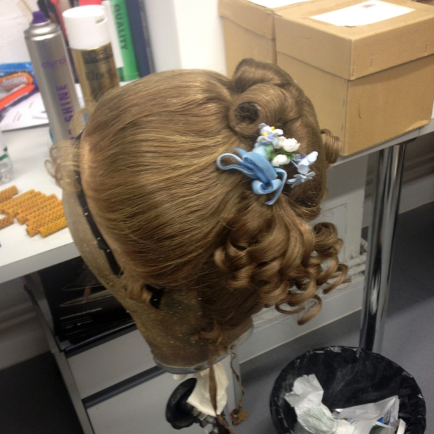 One of the wigs from Coppélia