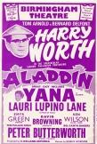 'Aladdin' pantomime handbill, Birmingham Hippodrome
