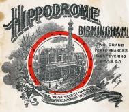 Variety performance programme handbill, Birmingham Hippodrome