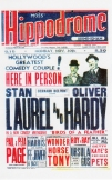 Laurel and Hardy poster, Birmingham Hippodrome